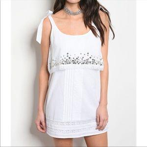 AMAZING White Sequin Tunic Dress